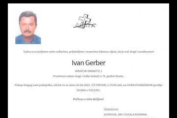 Ivan Gerber - Hrvatski branitelj 1951. - 2021.