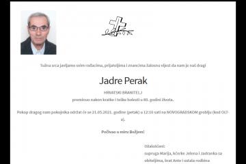 Jadre Perak - Hrvatski branitelj 1941. - 2021.