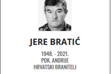 Jere Bratić - Hrvatski branitelj 1948. - 2021.