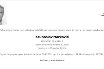 Krunoslav Marković - Hrvatski branitelj 1953. - 2021.