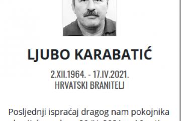 Ljubo Karabatić - Hrvatski branitelj 1964. - 2021.