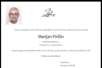 Marijan Piršlin - Hrvatski branitelj 1950. - 2021.