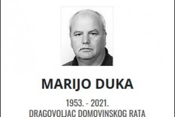 Marijo Duka - Hrvatski dragovoljac 1953. - 2021.