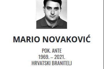 Mario Novaković - Hrvatski branitelj 1969. - 2021.