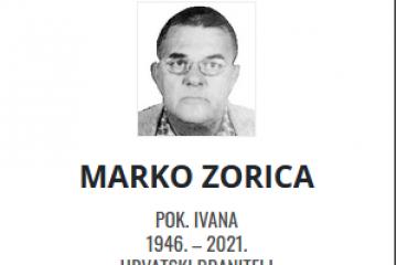 Marko Zorica - Hrvatski branitelj 1946. - 2021.