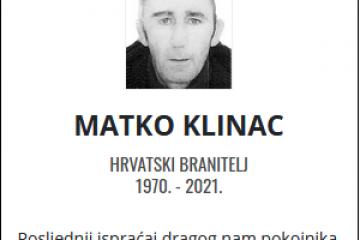 Matko Klinac - Hrvatski branitelj 1970. - 2021.
