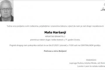 Mato Haršanji - Hrvatski branitelj 1950. - 2021.