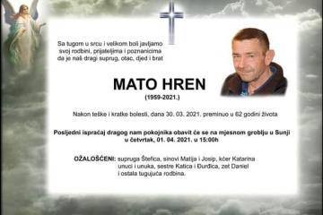 Mato Hren - Hrvatski branitelj 1959. - 2021.