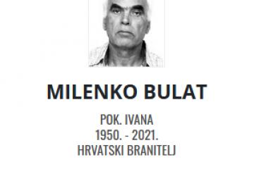 Milenko Bulat - Hrvatski branitelj 1950. - 2021.