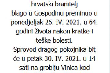 Mirko Krivak - Hrvatski branitelj 1957. - 2021.