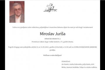 Miroslav Juriša - Hrvatski branitelj 1946. - 2021.