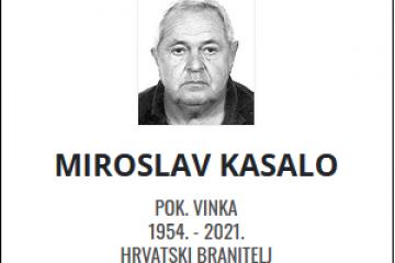 Miroslav Kasalo - Hrvatski branitelj 1954. - 2021.