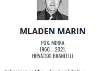 Mladen Marin - Hrvatski branitelj 1960. - 2021.