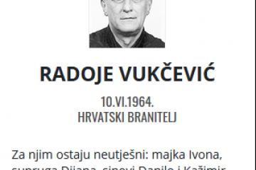 Radoje Vukčević - Hrvatski branitelj 1962. - 2021.