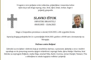 Slavko Ištok - Hrvatski branitelj 1955. - 2021.