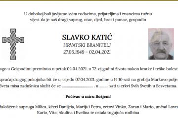 Slavko Katić - Hrvatski branitelj 1949. - 2021.