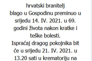 Srećko Varga - Hrvatski branitelj 1952. - 2021.