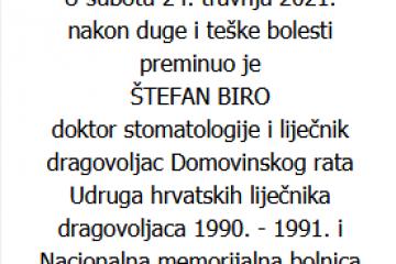 Štefan Biro - dragovoljac Domovinskog rata - In memoriam