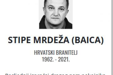 Stipe Mrdeža - Hrvatski branitelj 1962. - 2021.