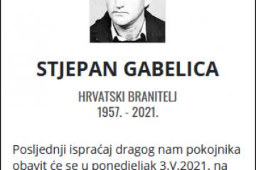 Stjepan Gabelica - Hrvatski branitelj 1957. - 2021.