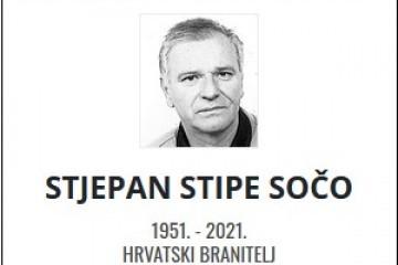 Stjepan Stipe Sočo - Hrvatski branitelj 1951. - 2021.