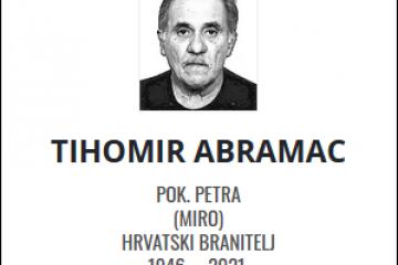 Tihomir Abramac - Hrvatski branitelj 1946. - 2021.