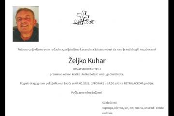 Željko Kuhar - Hrvatski branitelj 1961. - 2021.
