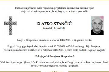 Zlatko Stančić - Hrvatski branitelj 1964. - 2021.