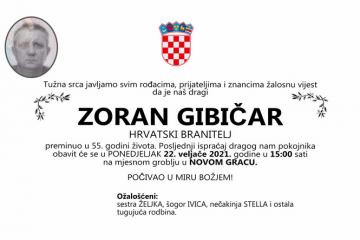 Zoran Gibičar - Hrvatski branitelj 1966. - 2021.