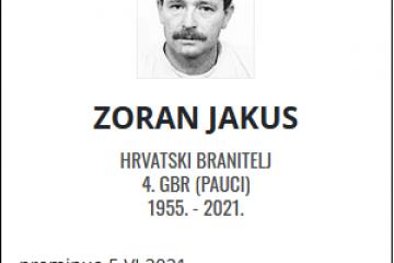 Zoran Jakus - Hrvatski branitelj 1955. - 2021.