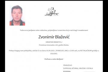 Zvonimir Blažević - hrvatski branitelj 1957. - 2021.