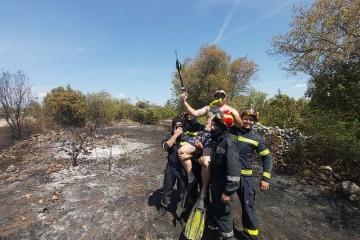 Drniški vatrogasci oduševili objavom: 'Kanader je pokupio ronioca, vraćamo ga'