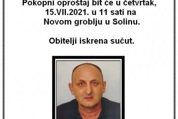 Posljednji pozdrav -  Zoran Šunjerga 1961. - 2021. - hrvatski branitelj