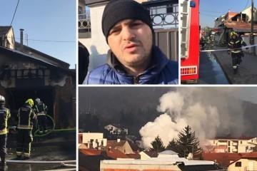 POŽAR U KUSTOŠIJI - Očevidac: 'Vatra je šiknula do pola ceste, bilo je kao u filmu!'
