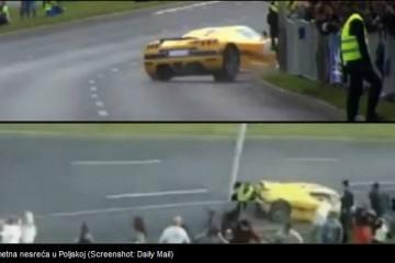 VIDEO Strava u Poljskoj: 'Pomeo' 17 gledatelja sportskim automobilom