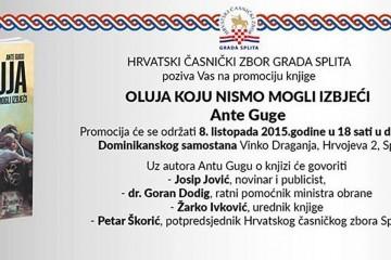 """Promocija u Splitu: Ante Gugo predstavlja """"Oluju koju nismo mogli izbjeći"""""""