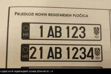 FOTO Ovo su prijedlozi za nove registracijske oznake