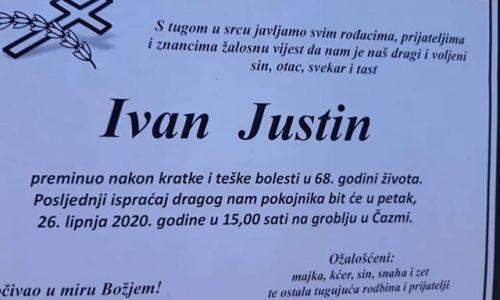 Posljednji pozdrav ratniku - IVAN JUSTIN