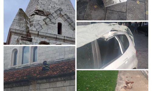 Nevrijeme je pogodilo Brač i grom je udario u crkveni toranj u Selcu
