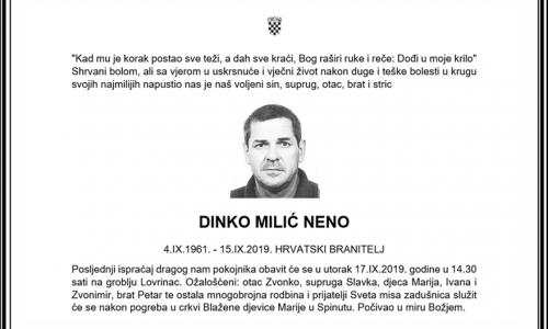 Posljednji pozdrav ratniku - Dinko Milić Neno