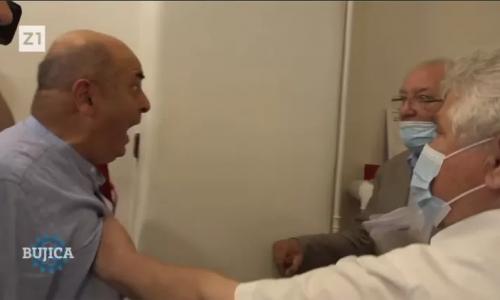 """(VIDEO) Goldstein nasrnuo na starca sa štapom i izbacio ga jer mu je rekao istinu! """"Odi u p***u materinu, gubi se, vaan, vaaan!"""""""