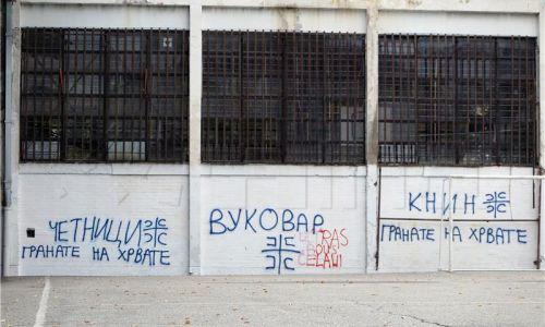 Prebojani antihrvatski grafiti u Beogradu, institucije još šute...