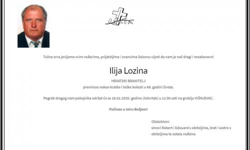Posljednji pozdrav ratniku - Ilija Lozina