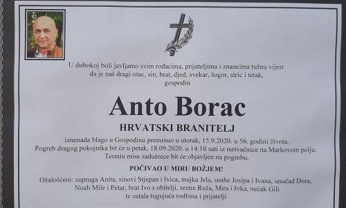 Posljednji pozdrav ratniku - Anto Borac