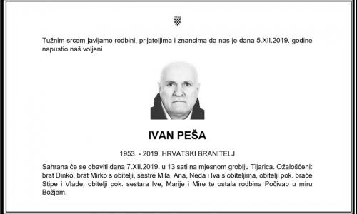 Posljednji pozdrav ratniku - Ivan Peša