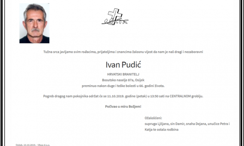 Posljednji pozdrav ratniku - Ivan Pudić