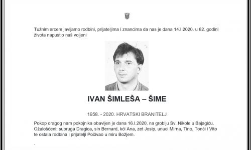 Posljednji pozdrav ratniku - Ivan Šimleša-Šime
