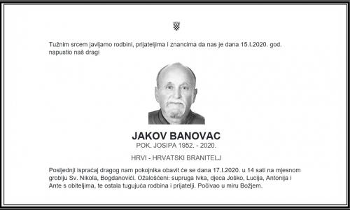 Posljednji pozdrav ratniku - Jakov Banovac
