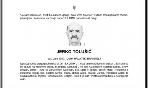 Posljednji pozdrav ratniku - Jerko Tolušić