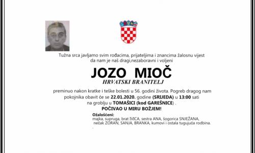 Posljednji pozdrav ratniku - Jozo Mioč